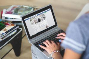 facebook scherm
