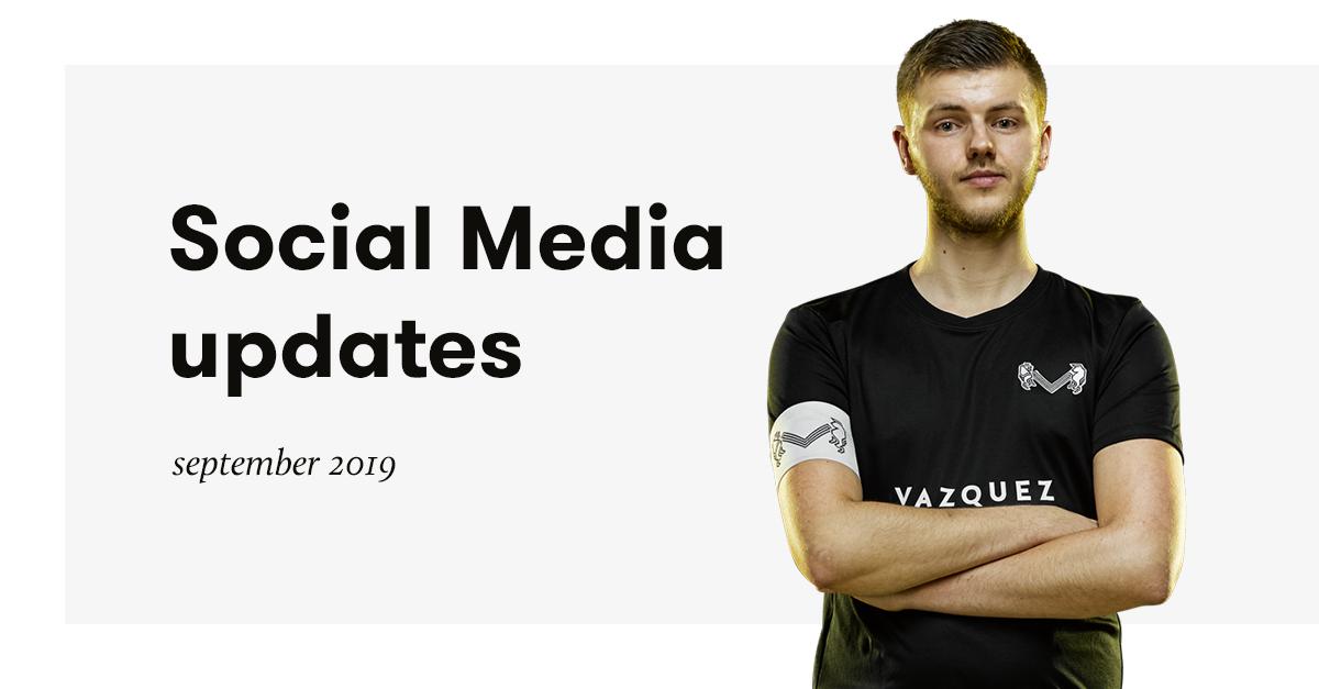 Social Media Updates – September 2019
