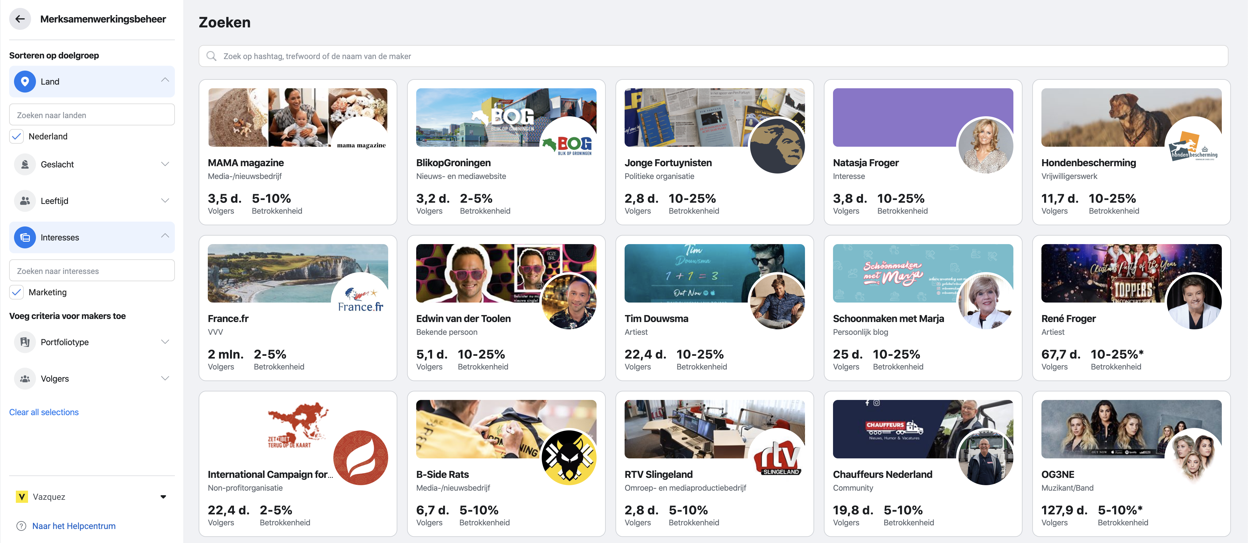 Facebook/Instagram – Brands Collab Manager (Merksamenwerkingsbeheer)