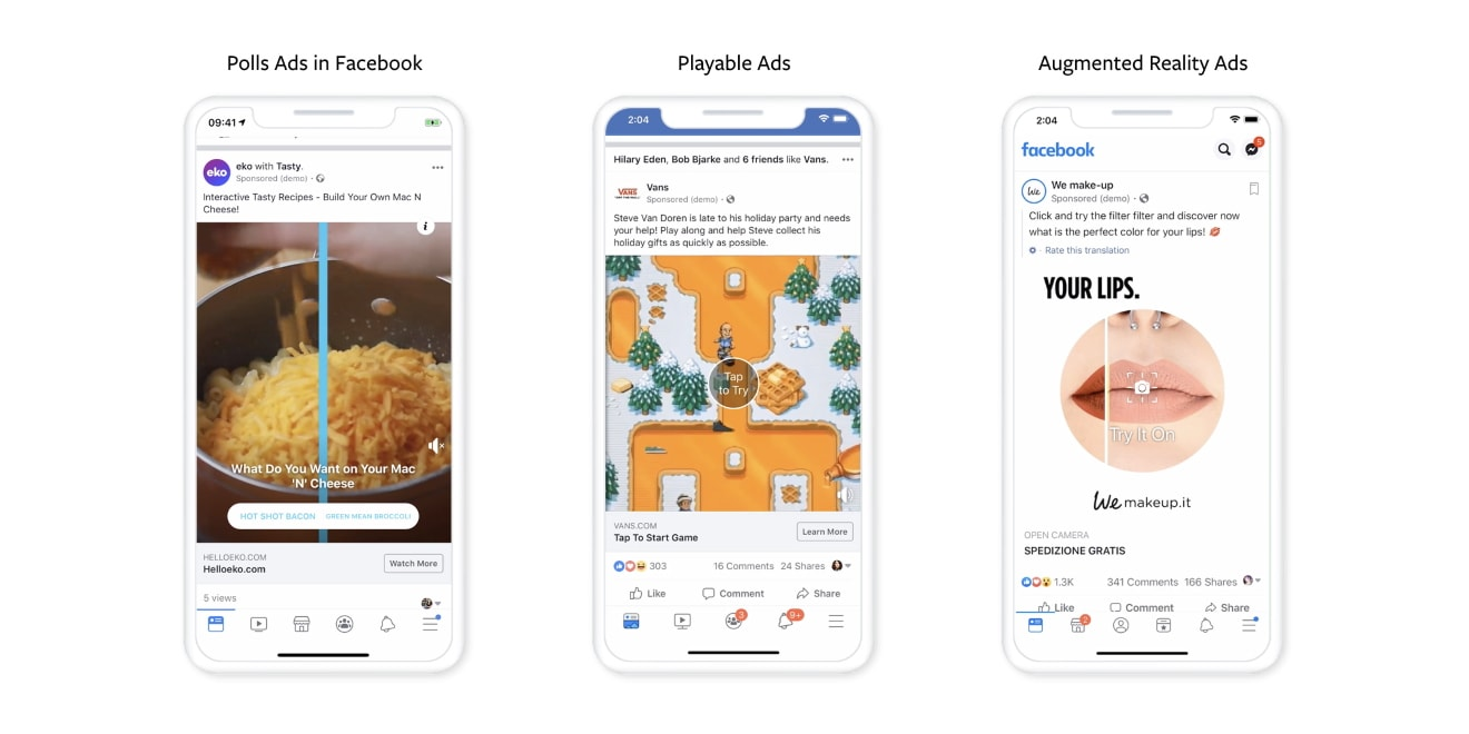 Facebook – Augmented Reality & Poll